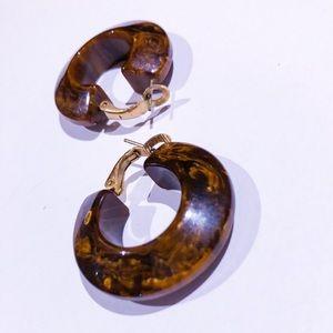 thick hoop vintage earrings